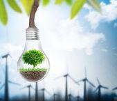 Light bulb Alternative energy concept  — Stock Photo
