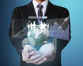 финансовые символы из рук — Стоковое фото