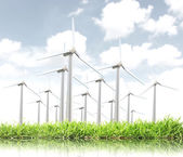 wind turbines generating electricity  — Stock Photo