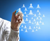drawing social network structure — Stock Photo