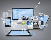 Magic technologie s sociální sítě — Stock fotografie