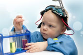 Little child - the chemist — Stock Photo