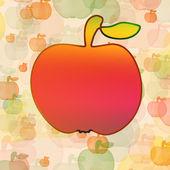 Bright orange apple — Stock Photo