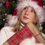 Happy Girl with Presents — Stock Photo
