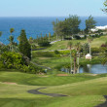 Green golf field on Bermuda — Stock Photo #38225249