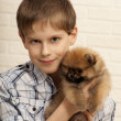 Boy with puppy. — Stock Photo #40981839