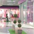 Pink mall interior - Stock Photo