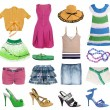 Summer clothes collection — Stock Photo
