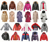 Collection of jacket — Stock Photo