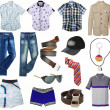 Stock Photo: Male clothes collection