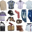 Male fashion clothes collection — Stock Photo