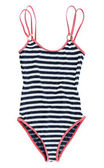 Striped swimsuit — Stock Photo