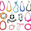 Collection of necklaces — Stock Photo #18979439