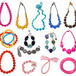 Collection of necklaces — Stock Photo