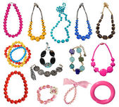 Collection of necklaces — Stockfoto