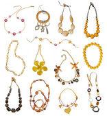 Colección de collares de oro — Foto de Stock