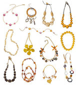 Collection of gold necklaces — Foto de Stock