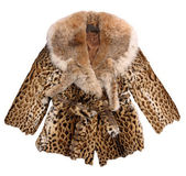 Fashion fur coat — Stock Photo