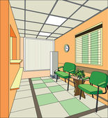 Modern hospital interior — Stock Photo