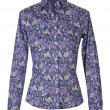 Blue flowers shirt - Stock Photo