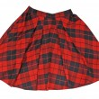 Stock Photo: Checkered skirt