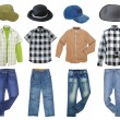 Man's clothes collection — Stock Photo #24777261