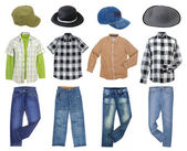 Man's clothes collection — Stock Photo