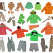 Stock Photo: Collection of warm children's clothing