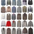 Collection of men's jackets — Stock Photo #25225925