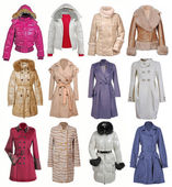 Collection of jacket and coat — Stock Photo