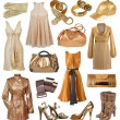 Collection of gold dress — Stock Photo #32133215