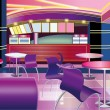 Interior of a modern bar (vector illustration) — Stok Vektör
