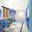 Interior of hospital (vector illustration) — Stock Vector