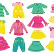 Stock Vector: Collection of children's clothing