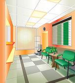 Interior of hospital (vector illustration) — Stock Vector