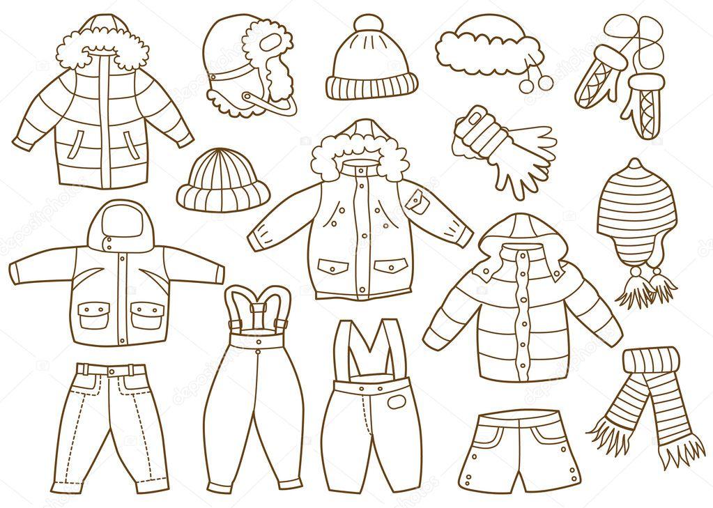 Раскраска для малышей одежда - 5