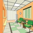 Hospital interior — Vektorgrafik