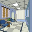 Stock Vector: Hospital interior