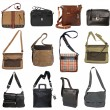Collection of men's bags — Stock Photo