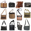 Collection of men's bags  — Stock fotografie