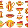 Tea set (vector illustration) — Stock Vector