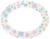 Flower frame. Designed for invitations for the holidays — Stock Vector