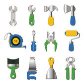 Set of working tools icons — Stock Vector