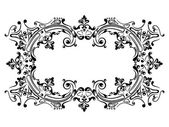 Design frame with swirling decorative elements — Stock Vector