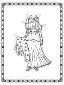 Ancient Greek costume — Stock Vector