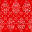 Royalty-Free Stock Векторное изображение: Christmas seamless pattern lace. Red, white