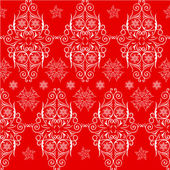 Christmas seamless pattern lace. Red, white — Stock Vector