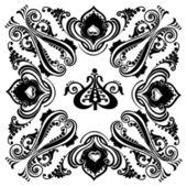 Vintage black floral swirling ornament — Stock Vector