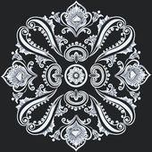 花卉旋流饰品 — 图库矢量图片