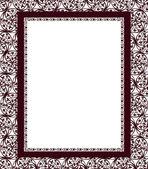 Design frame on a ornamental swirling background — Stock Vector